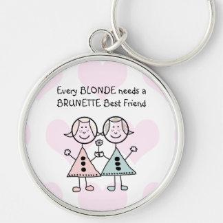 Jede Blondine benötigt einen brünetten bester Schlüsselanhänger