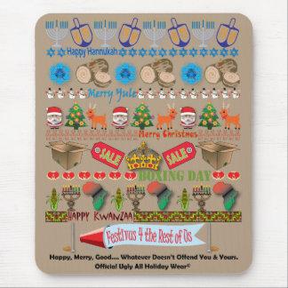 Jede Feiertags-hässliche Strickjacke-Mausunterlage Mousepad