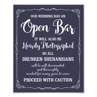 jede Liebegeschichte ist schönes Hochzeitszeichen Photographischer Druck