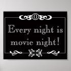 Jede Nacht ist Film-Nachtplakat Poster