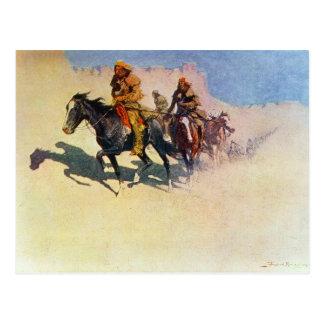 Jedediah Smith, der seine Weise über der Wüste Postkarte