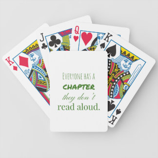 """""""Jeder hat ein Kapitel. """" Bicycle Spielkarten"""