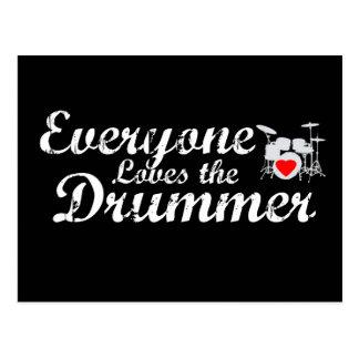 Jeder Lieben der Schlagzeuger Postkarte