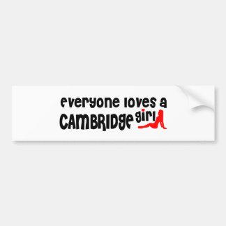 Jeder Lieben ein Cambridge-Mädchen Autoaufkleber
