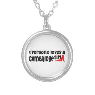 Jeder Lieben ein Cambridge-Mädchen Versilberte Kette