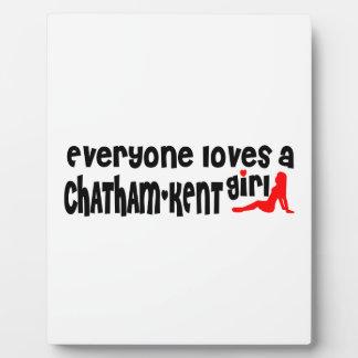 Jeder Lieben ein Chatham-Kent Mädchen Fotoplatte