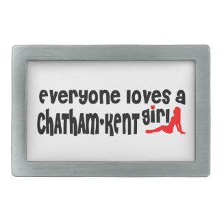 Jeder Lieben ein Chatham-Kent Mädchen Rechteckige Gürtelschnalle