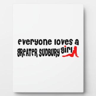 Jeder Lieben ein größeres Sudbury Mädchen Fotoplatte