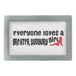Jeder Lieben ein größeres Sudbury Mädchen Rechteckige Gürtelschnallen