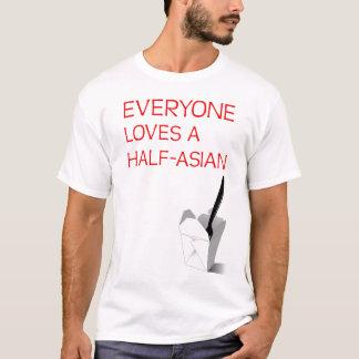 Jeder Lieben ein Hälfte-Asiatisches T-Shirt