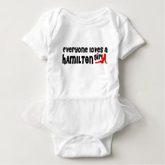 Jeder Lieben ein Hamilton-Mädchen Baby Strampler