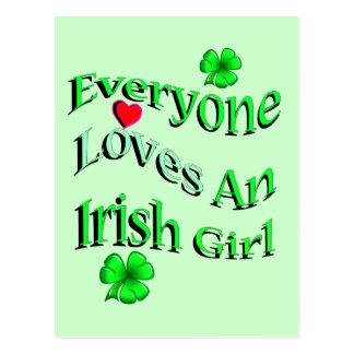 Jeder Lieben ein irisches Mädchen Postkarte