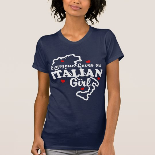Jeder Lieben ein italienisches Mädchen T-Shirt