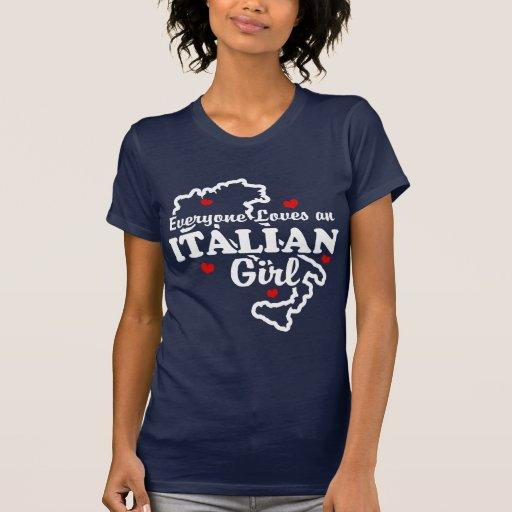 Jeder Lieben ein italienisches Mädchen Tshirt