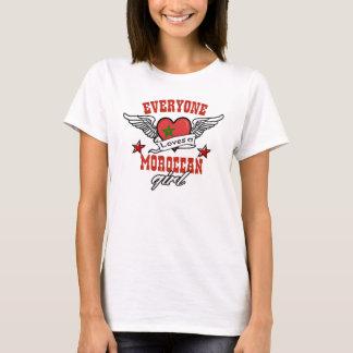 Jeder Lieben ein marokkanisches Mädchen T-Shirt