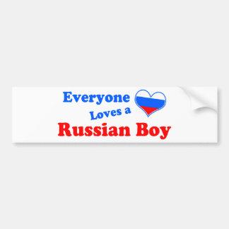 Jeder Lieben ein russischer Junge! Autoaufkleber