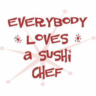 Jeder Lieben ein Sushi-Koch Acrylausschnitt