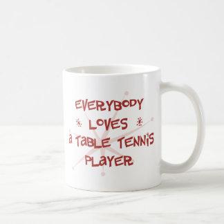 Jeder Lieben ein Tischtennis-Spieler Kaffeetasse