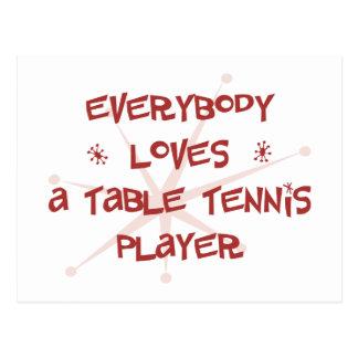 Jeder Lieben ein Tischtennis-Spieler Postkarte