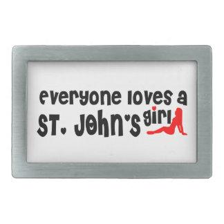 Jeder Lieben eines Johannes Mädchen Rechteckige Gürtelschnallen