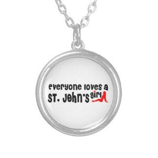Jeder Lieben eines Johannes Mädchen Versilberte Kette