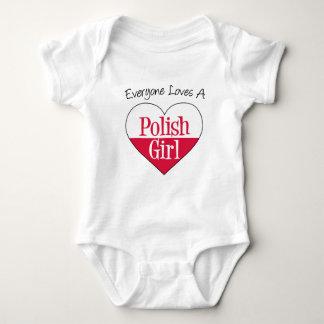 Jeder Lieben polieren Mädchen Baby Strampler