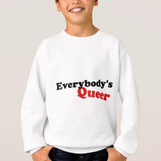 Jeder que, schwarzer Beschriftung Sweatshirt