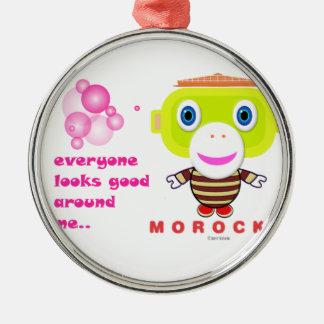 Jeder schaut um mir-Niedliches Monkey-Morocko. gut Silbernes Ornament