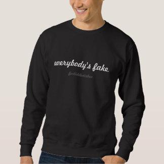 jeder schwarze Crew des Fakes - forbiddentaboo Sweatshirt