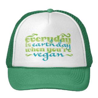 Jeder Tag ist der Erdtag vegan Trucker Kappe