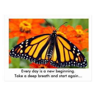 Jeder Tag ist ein neuer Anfang… Monarchfalter Postkarte