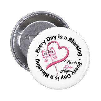 Jeder Tag ist ein Segen - hoffen Sie Brustkrebs Runder Button 5,7 Cm