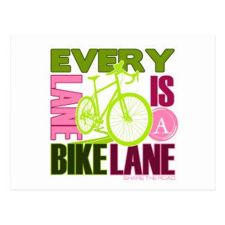 Jeder Weg ein Fahrrad-Weg Postkarte