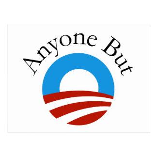 Jedermann aber Obama w/Logo Postkarte