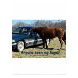 Jedermann gesehen meinen Schlüsseln? Auto-und Postkarte