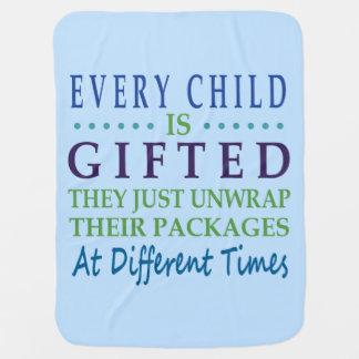 Jedes autistische Kind ist begabt Baby-Decke