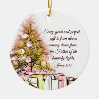 Jedes gute und perfekte Geschenk-James-1:17, Keramik Ornament