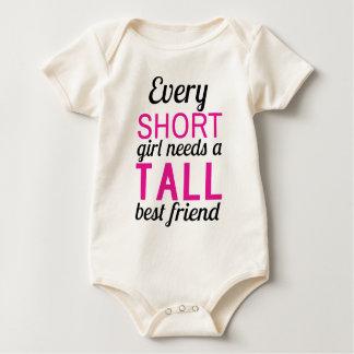 jedes kurze Mädchen benötigt ein hohes bestfriend Baby Strampler