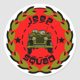Jeep-Gruppe Runder Aufkleber