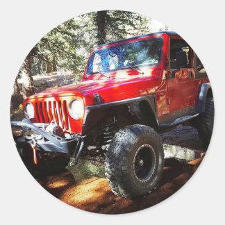 Jeeplife Runder Aufkleber