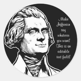 Jefferson-Aufkleber