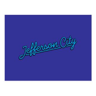 Jefferson city in Cyan-blauem Postkarte