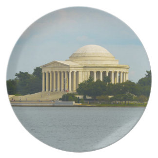 Jefferson-Denkmal im Washington DC Melaminteller