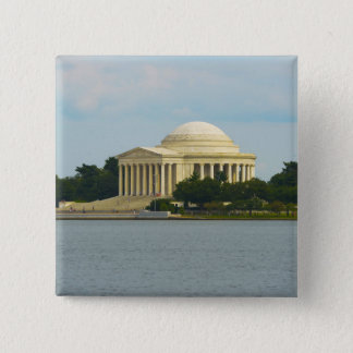Jefferson-Denkmal im Washington DC Quadratischer Button 5,1 Cm