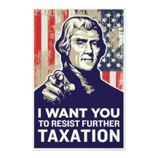 Jefferson I wollen Sie Steuer-Widerstand-Flyer