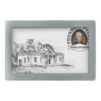 Jefferson in Monticello Rechteckige Gürtelschnallen