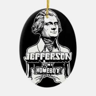 Jefferson ist meine Homeboy-Verzierung Ovales Keramik Ornament