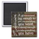 Jefferson: Passen Sie von der großen Regierung auf Magnets