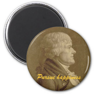 """Jefferson """"üben Glück """" aus Runder Magnet 5,1 Cm"""