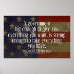 Jefferson-Zitat auf großer Regierung Plakatdrucke